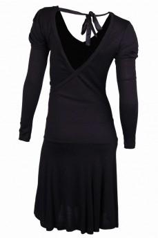 Платье отрезное по талии, спина открытая на запах