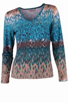 Блуза с абстрактным рисунком