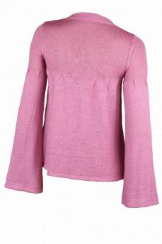 Кардиган вязанный розовый мохеровый расклешенный