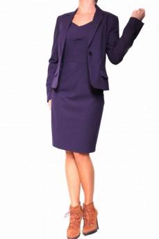 Платье деловое с декоративными защипами