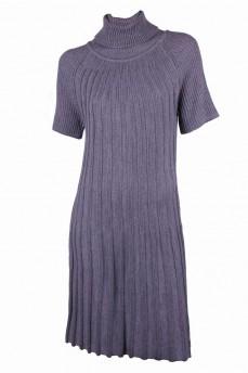 Платье из тонкой шерсти, вязкой гафре
