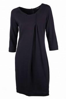 Платье элитная шерсть со встречной складкой