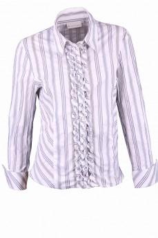 Рубашка деловая в мелкую полоску