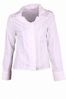 Рубашка в романтическом стиле со стойкой