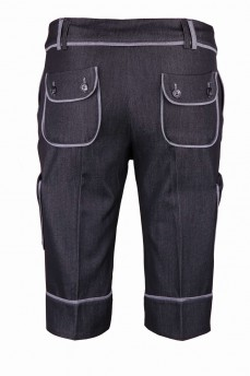 Шорты темно-серые с накладными карманами