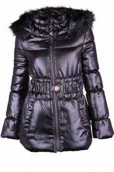 Куртка стеганая из атласа с восковым покрытием на утеплителе изософт