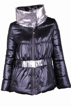 Тренд этого сезона куртка с восковым покрытием вставки паетки