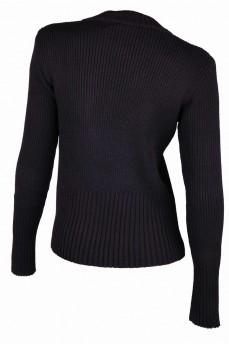 Пуловер черный с декоративными пуговицами