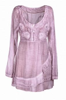 Платье  короткое льдисто-розовое