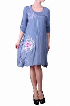 Платье двойка голубое