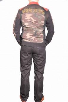 Куртка мужская деним с воротником стойка