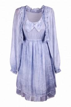 Платье шёлковое голубое