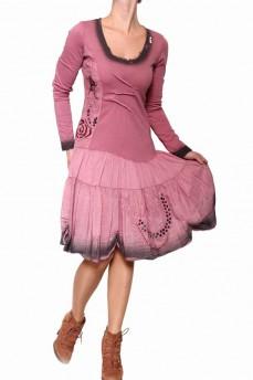 Платье с градиентом марсала в романтическом стиле