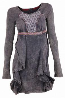 Платье цвета хаки с фантазийными элементами