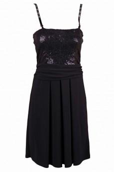 Платье бюстье на съемных брителях с паетками по лифу