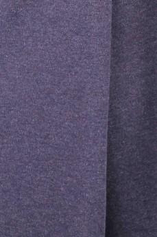 Платье серое со встречной складкой шерсть