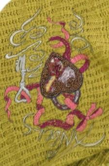 шарф вязаный салатовый