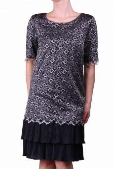 Платье с серебристым кружевом