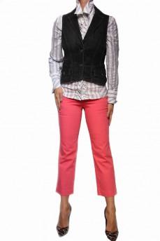 Укороченные брюки розового цвета