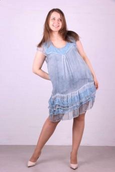 Платье светло-голубое