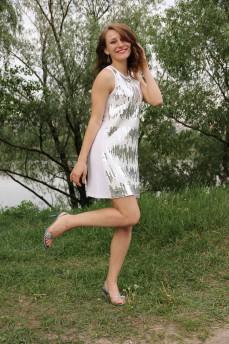 Платье-туника с паетками