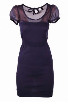 Платье синее с шифоном
