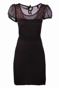 Платье черное с шифоном