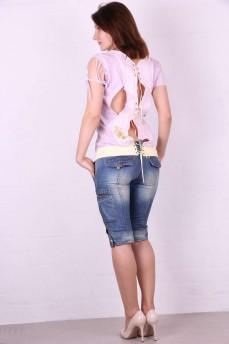 Блуза с вышивкой на спине шнуровка