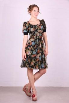 Платье-баллон отрезное под грудь