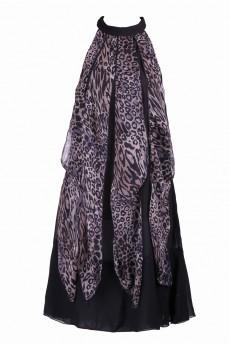 Платье американка клинья леопард