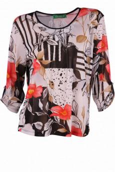 Блуза из тонкой прозрачной сетки