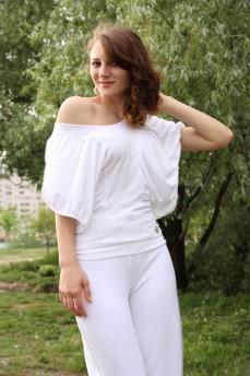 Блуза с рукавом летучая мышь