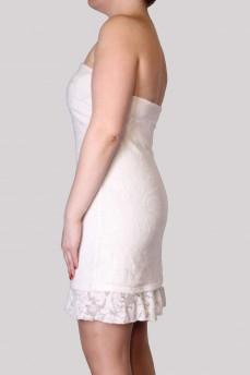 Платье бюстье кремовое из кружева