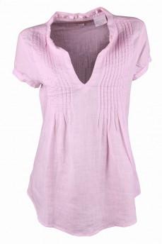 Блуза льняная удлиненная