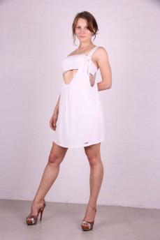 Платье с лифом белое