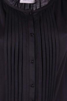 Блуза черная на пуговицах