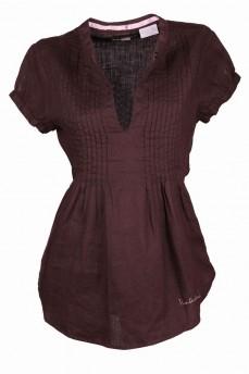 Блуза льняная с вырезом капля
