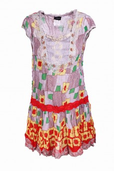 Платье - туника с кружевом