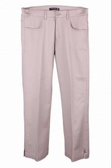 Укороченные брюки бежевые