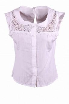 Блуза с кокеткой из кружева