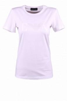 Белая футболка с паетками