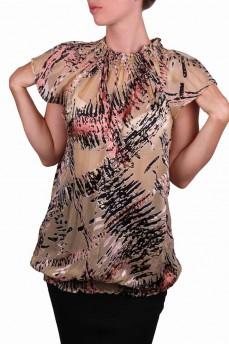 Блуза песочная из натурального шелка