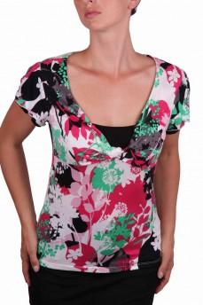 Блуза с рисунком зонтичные цветы