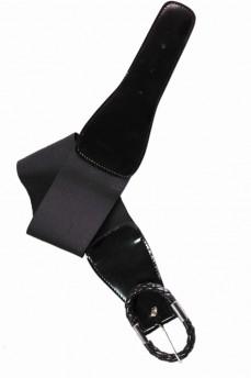 Пояс-резинка с лаковой вставкой