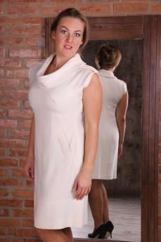 Платье из шерсти 100% кашемир молочного цвета