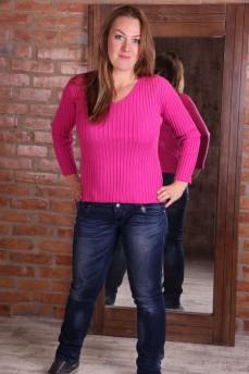 Пуловер розовый из тонкой мягкой шерсти