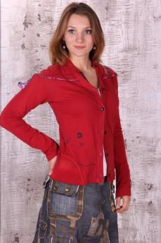 Рубашка красная с вышивкой