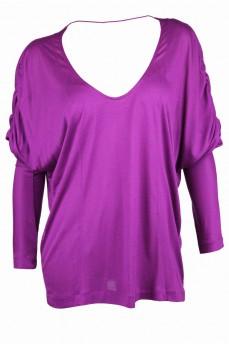 Блуза цвета фуксия с рукавом-доломан