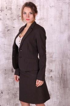Пиджак деловой в полоску с равным интервалом