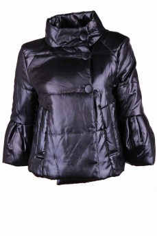 Куртка-болеро из плотного атласа с обработкой воском